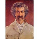 Mark Twain Portrait James Carroll Beckwith 1890