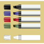Vector clip art of markers