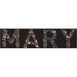 Mary Typography Enhanced With Black Background