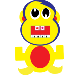 Yellow cartoon monkey