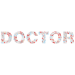 Medical doctor typography