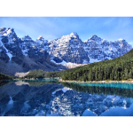 Medium Poly Canadian Rockies Moraine Lake