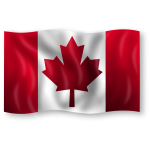 Canadian Flag vector drawing