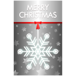 Vector illustration of grey theme Merry Christmas card