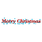 Merry Christmas banner with snowflakes vector clip art