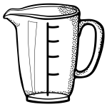 Vector image of measuring cup line art