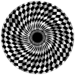 Checkered Pattern Circular Shape
