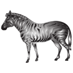 Metallic Zebra 2
