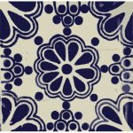 Mexican tile pattern vector image