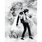 Michael Jackson Pencil Sketch Montage