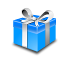 Present Blue Pack Vector