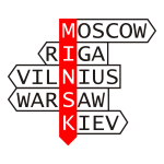 Minsk and neighbours direction pointer vector image