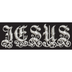 Mirrored Chrome Jesus Typography Lines