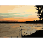 Missouri river sunset 2016060442