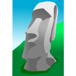 Moai vector graphics