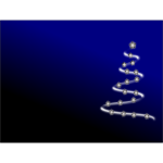 Vector background with Christmas Tree