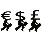 Money people silhouette vector image