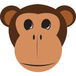 Monkey vector clip art