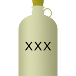 Vector clip art of a jug with toxic water inside.