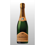 Bottle of champagne vector clip art illustration
