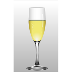Vector illustration of glass of champagne