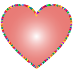 Multicolored Arrows Heart Filled 3