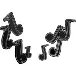 Music Notes All Black