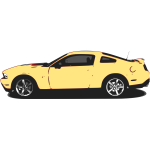 Vector image of yellow Mustang