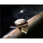 NASA New Horizons Pluto Flyby Artist Concept July 2015