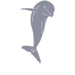 Dolphin jumping  vector graphics