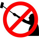 ''No selfie sticks'' symbol