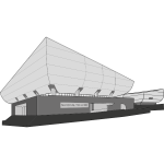 Vector clip art of national theatre building