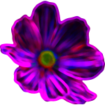 Neon Flower Illustration