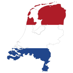 Netherlands Map Flag With Stroke