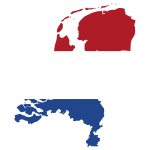 Netherlands Map Flag