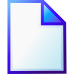 New document icon vector drawing