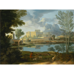 Nicolas Poussin Landscape With A Calm