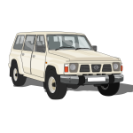 Vector image of sports vehicle