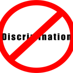 No discrimination sign