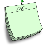 Monthly note - April