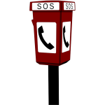 Public emergency telephone clip art