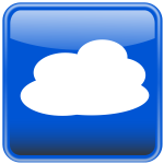 Cloud computing button vector