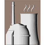 Simple nuclear power plant illustration
