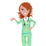 Vector clip art of professional medical nurse
