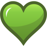 Green heart with thick brown border vector graphics