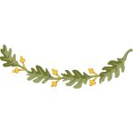 Oak branch vector drawing