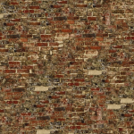 Old brick wall vector drawing