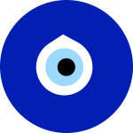 Greek eye in blue color