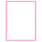 1-Bit Hearts Red