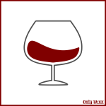 Wine glass on a label